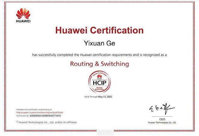 HCIP-RS